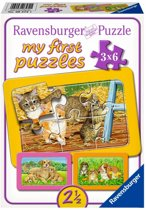 Ravensburger De liefste huisdieren My First Puzzels 3x6 stukjes