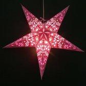MoreThanHip Papieren kerstster Amisha - roze - incl. verlichtingsset
