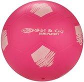 Get & Go Voetbal PVC - 21 cm - Fluorroze/Wit/Antraciet - 21