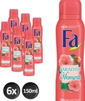 Fa Deospray Paradise Moments - 6 x 150ml