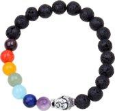 Fako Bijoux® - Buddha Armband - Chakra Reiki - Lavasteen