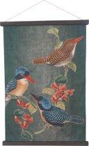 Prachtig wandkleed - zware kwaliteit linnen - 80x120cm