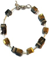 Petra's Sieradenwereld - Armband blokjes en buisjes  (1)