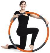 Weight hoop New Style - Fitness Hoelahoep - 2.3 kg - Ø 100 cm - Oranje/Grijs