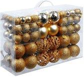 Christmas Gifts Kerstballen set - 100 ballen - Plastic / Kunststof - Koper / Bruin