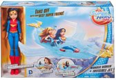 Mattel DYN05 Super Hero Girls Wonder Woman Doll and Invisible Jet