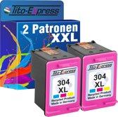 PlatinumSerie® 2 x cardridge alternatief voor HP 304 XL color