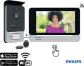 Deurbel met camera, 2 draads, 7″ touch scherm, RFID tags, WiFi | Philips WelcomeEye Connect – DES 9900 VDP - Doorsasfe 8330