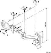 ROLINE LCD Monitorarm, Wandmontage, gas spring, pivot