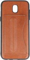 Standing TPU Wallet Case voor Samsung Galaxy J5 2017 Bruin