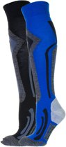 Falcon Coolly Wintersportsokken - Maat 43-46 - Unisex - blauw/ grijs/ zwart
