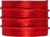 Satijnkoord (2 mm) Bright Red (15 Meter)