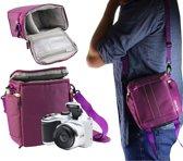 Navitech Paarse DSLR & Lens Camera Tas Hoes voor de Canon EOS 1300D