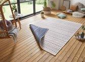 Design binnen & buiten vloerkleed Lily - blauw/crème 160x230 cm