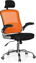 hjh office VENDO NET - Bureaustoel - Netstof - Zitting stof - Zwart / oranje