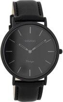 OOZOO Vintage C7742 - Horloge - Leer - Zwart - 40 mm