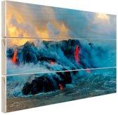 FotoCadeau.nl - Lava in Oceanie  Hout 80x60 cm - Foto print op Hout (Wanddecoratie)