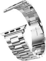 Metaal schakel bandje zilver geschikt voor Apple Watch 42mm
