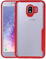 Focus Transparant Hard Cases Samsung Galaxy J4 Rood