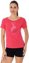 Brubeck | Outdoor Wool Dames T-Shirt met Merino wol en Tencel®- Raspberry - Kozica - Maat XL