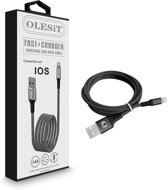 Olesit Lightning 1.5 Meter Fast Charge 3.4A - Oplaadkabel - Veilig laden - Data Sync & Transfer - Anit-Knik - Zwart