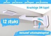 Mystoresale Onzichtbaar Ladeslot - 12 Stuks - Zonder Magneet Sleutel - Zelfklevend - Baby Kind - Kast en Lade Slot - Ladebeveiliging - Kastbeveiliging - Ladensloten - kinderslot