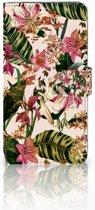 Samsung Galaxy A9 2018 Uniek Boekhoesje Flowers