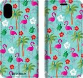 Mobigear Tropical Design Wallet Bookcase Hoesje 2 iPhone X / Xs