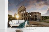 Fotobehang vinyl - Oud Romeins theater bij zonsopgang Italië breedte 360 cm x hoogte 240 cm - Foto print op behang (in 7 formaten beschikbaar)