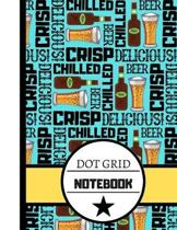 Dot Grid Notebook: Bright Beer Pattern Print - Bullet Style Grid Journal/Notebook for Men, Women and Students