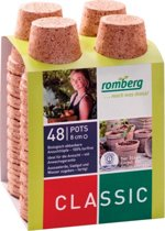 Kokos potjes rond 8 cm - biologisch afbreekbaar en turfvrij - set van 48 stuks