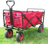 Bolderkar / Bolderwagen Mac Sports -Opvouwbaar de luxe met luchtbanden - kleur rood
