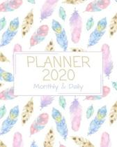 Planner 2020: Personal Planner Monthly and Daily at a glance with Calendar (January 2020 - December 2020)