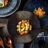 Luxe Dinerbord-Bord-kleuren zwart-21.5 * 21.5 * 2cm