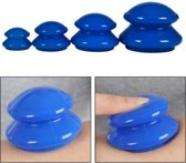 XL Vacuum Anti Cellulitis Massage Cup - Cupping Therapy Set - Siliconen Cuppingset - Blauw