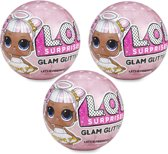 L.O.L. Surprise! Bal Glam Glitter - Set van 3 ballen