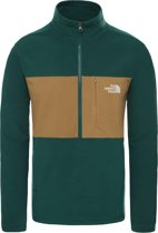 The North Face Blocked Tka 100 1/4 Zip Vest Heren - Night Green/British Khaki - Maat S