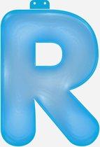 Opblaas letter R blauw