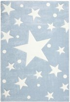 Livone - Kindervloerkleed Stars Blauw-Wit 160 cm x 230 cm