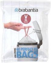 Brabantia Perfect Fit Afvalzakken - 3 l - Code V - 60 stuks