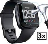 Screenprotectors geschikt voor de Fitbit Versa | 3 stuks | Pride Kings®