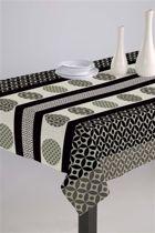 Luxe Stoffen Tafellaken - Tafelkleed - Tafelzeil - Duurzaam - Hoogwaardig - Luna Bruin - Zwart - 140cm x 180cm