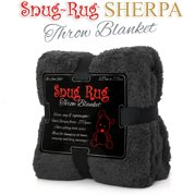 Gift House International Snug-Rug Sherpa - Deken - Grijs