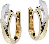 Glow Gouden Klapoorringen - 1X Diamant 0.053Ct. Gh/Si3 Mat Glanzend 207.5251.00