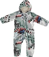 Lodger Baby Skipak - Skier Botanimal  - Grijs/rood - 74 - 6-12 mnd