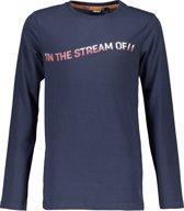Bellaire Jongens T shirt lange mouw - donker blauw - Maat 110/116
