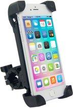 Telefoonhouder voor mobiel op fiets - Fietshouder mobiel - Houder fietsstuur - Verstelbaar - Gemakkelijk te bevestigen - Universeel - Zwart - iPhone X, iPhone 11, iPhone XS MAX, iPhone 8, iPhone 7, iPhone 6
