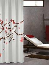 Sealskin douchegordijn Blossom - 180x200 cm - Rood