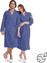 Nightlife - Sauna Unisex Badjas - Blauw - XL