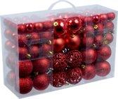 Rode kerstballen 100 stuks
